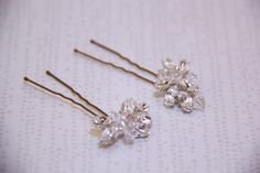 Crystal marquis hair pins available at Jeweliette Jewellery - $45