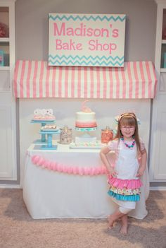 Melissa M's Birthday / Baking and Cooking - Madison's Bake Shop at Catch My Party Baking Birthday Parties, Baking Party, Birthday Party Themes, Birthday Ideas, 5th Birthday, Paris Birthday, Cupcake Decorating Party, Cupcake Party, Birthday Cupcakes