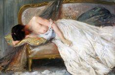Art and Salt — Reclining Partial Nude - Alfred Stevens Alfred Stevens, Rene Magritte, Black Sails, Impressionism, Art Forms, Illusions, Scene, Nude, Portrait