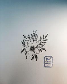 Single Flower Tattoo Design  From Blue Whale Ink Design by _park_tae_  Work In Korea, Seoul, Hongdae Kakao: taemin0509 Insta: _park_tae_ Email: hopetaemin@naver.com Phone: 010.9922.2511 #Bluewhaleink