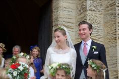 parismatch: Wedding of Countess Caroline von Neipperg and Count Philippe de Limburg Stirum in Saint-Émilion, France, May 23, 2015