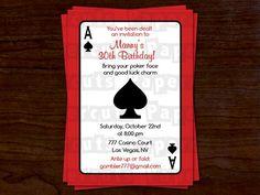 DIY Vegas Casino Night Invitation Template From DownloadandPrint - Party invitation template: casino theme party invitations template