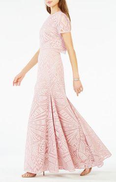 Maris Burnout Mesh Two-Piece Gown