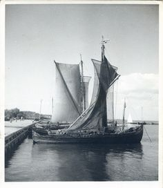 Nidden, Kurenkähne im Hafen