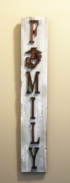 Are you looking for something that is one of a kind, original piece of artwork for your home or a gift for a usmc family. Ega wall hanging family sign for military Marine Gifts, Military Gifts, Military Home Decor, Military Deployment, Navy Military, Military Spouse, Marine Mom, Marine Corps, Marine Gear