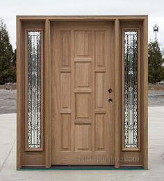 Interior Wooden Doors With White Trim. Real wood doors are great if you reside in a period household or simply just would like to add traditional char. Main Entrance Door Design, Wooden Front Door Design, Exterior Entry Doors, Wooden Front Doors, The Doors, Panel Doors, Rustic Exterior, Home Door Design, Door Design Interior