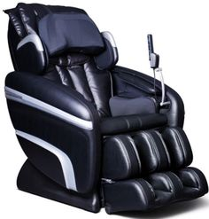 Osaki OS-7200HA Executive ZERO GRAVITY S-Track Heating Massage Chair, Black, Designed with a set of S-track movable intelligent massage robot , special focus on the neck, shoulder and lumbar massage according to body curve, Pelvis & Waist Swaying Mas