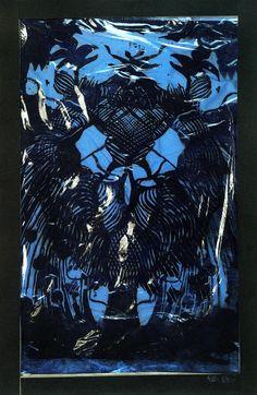 ART by Syd Barrett / Blue abstract 1964