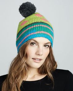 Pom Ski Hat by 1717 Olive at Neiman Marcus.