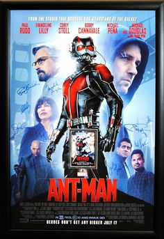 Ant-Man - Signed Movie Poster