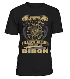 BIRON - I Nerver Said
