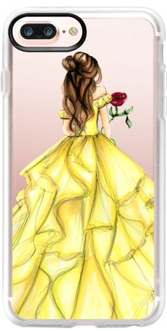 Classic Grip iPhone 7 Plus Case The Princess and The Rose - Transparent Iphone 6 Plus Case - Transparent Iphone 6 Plus Case for sales. - Casetify iPhone 7 Plus Classic Grip Case The Princess and The Rose by Melsy's Illustrations