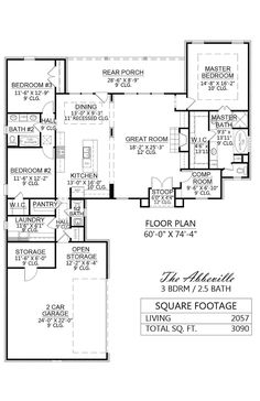 3 bedroom, 2.5 bathroom craftsman plan with clerestory | House ...