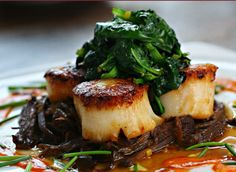 The scallops at the Haven Restaurant, right down the street here in Brookhaven can't be beat.