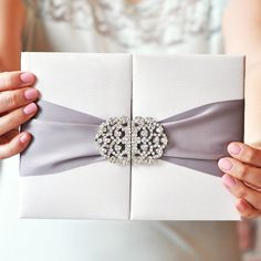 Wedding Invitation| MIRANDA This handcrafted silk gatefold is the ultimate in #luxury. For more visit www.weddingsite.co.uk