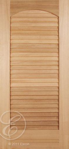 """Pacific Cherry One Panel False Louver Interior/ Exterior Grade 2-1/4"""" False louvers [N401]"""