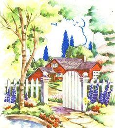 Art Deco Cottage House | Via Bette Collins