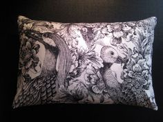 Thomas Paul Botanical Print Pillow in Black and White