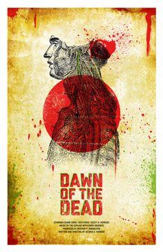 dawn of the dead minimalist movie poster