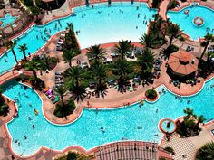 Aerial view of the pool at Shores of Panama