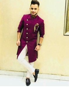 Tailored Mens Sherwani (New Designs) Sherwani For Men Wedding, Wedding Dresses Men Indian, Wedding Dress Men, Wedding Outfits For Men, Wedding Groom, Mens Indian Wear, Mens Ethnic Wear, Indian Groom Wear, Kurta Pajama Men