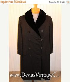 50% OFF SALE Mens RARE Vintage Wool & Fur Opera Coat Overcoat Burkhardt Bros. Co. Sz 46