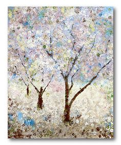 Rose & Serenity Tree II Wrapped Canvas #zulily #zulilyfinds