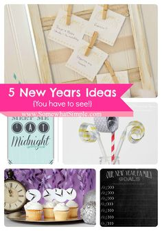 5 New Years Ideas- like the resolutions idea
