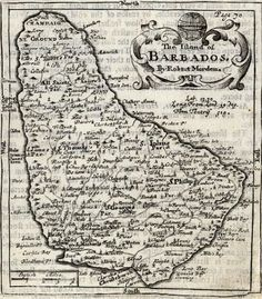 Barbados Map, 1662 Pirate Art, Pirate Life, Old Maps, Antique Maps, Barbados Beaches, Pirate Tattoo, Water Island, St Vincent Grenadines, Colonial Art