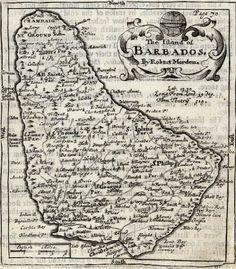 Barbados Map, 1662