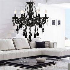 77 best shine bright images on pinterest ceiling lamps ceiling black chandelier aloadofball Choice Image