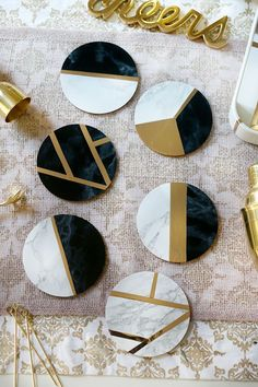 Marble and Gold DIY