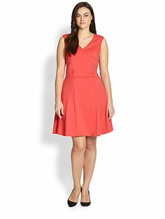 ABS, Sizes 14-24 - Fit-and-Flare Dress - Saks.com