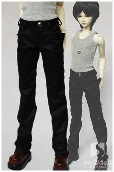 BJD doll clothing factory [black zipper pants] 1/4.1/3 uncle LUTS.DOD.AS.DZ.SD of baby clothes - Taobao 66.00