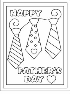 kids Father's Day cards - Free printable Father's Day cards - homemade card ideas for Dad - Father's Day coloring cards - free coloring cards - coloring pages