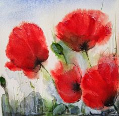 Aquarelle : les coquelicots Art Floral, Drawing Block, French Nursery, Nursery Rhymes, Watercolor Flowers, Flower Art, Poppies, Creations, Images