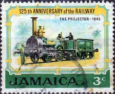 Jamaica 1972 Railways Train SG 325 Fine Used SG 325 Scott 324 Other British Commonwealth stamps here