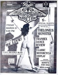 flyer Rock Posters, Band Posters, Concert Posters, Alternative Movie Posters, Alternative Music, Comic Art Girls, 18 Movies, Jane's Addiction, Adventure Magazine