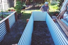 How To Make A Garden Box Cheap Ohdeardrea Our Raised Beds Easy Metal Amp Wood Garden Bed How To DIY