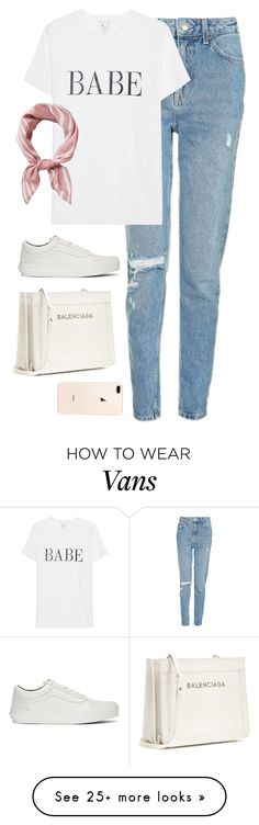 """Untitled #4543"" by magsmccray on Polyvore featuring Topshop, Vans and Balenciaga"