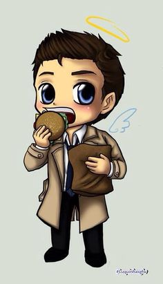 Some awesome Supernatural Fan Art / Castiel. (I don't know who its by)