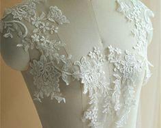 Bridal lace applique | Etsy