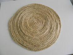 Loopy Loop Creations: Sisal Rope Placemats