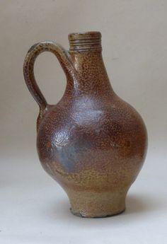 Brown Salt-glazed Stoneware Bottle