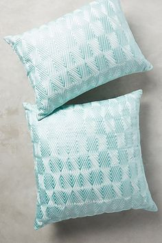 Embroidered Ellsworth Pillow #anthropologie