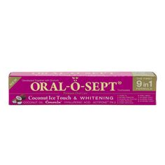 ORAL-O-SEPT Coconut Ice Touch & Whitening Toothpaste 75ml 2.53 fl oz