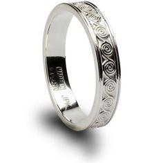 "Love this Celtic Wedding Band.  ""Newgrange Spiral"" design - inspired by Newgrange, Ireland's ancient archaeological site...  LOVE!"