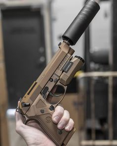 Rich Kids Spotted   Image   Beretta M9A3 with SilencerCo 🔫 Follow @luxury.topic for more! . 📷 By @readygunner . Use #luxurytopic to get featured Custom Guns, Guns And Ammo, Weapons Guns, Cool Guns, Firearms, Beretta 92, Arma 3, Revolver, Combat Gear