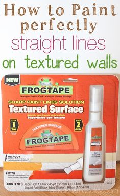 How to Paint Perfect Lines on Textured Walls :: Hometalk
