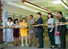 Ribbon cutting at the re-opening of the Lawrence Headquarters Branch, 1996. #TBT #mclsnj